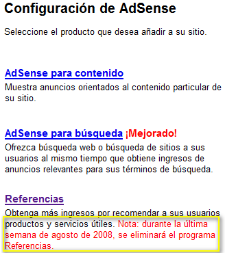 referencias de adsense
