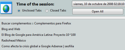 session page