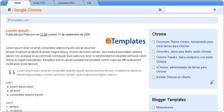 Google Chrome demo