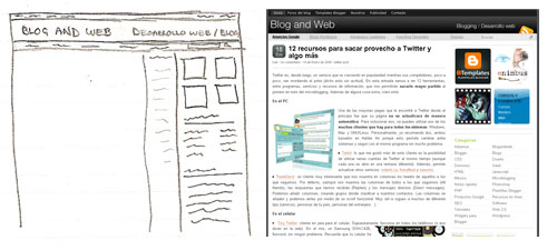 Blog and Web, diseño 2009