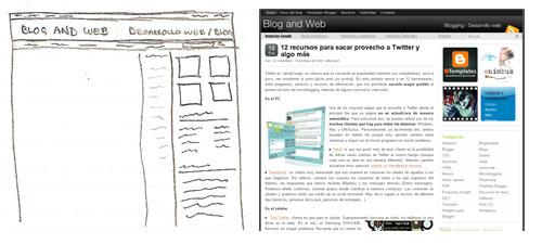 Blog and Web, diseño 2009