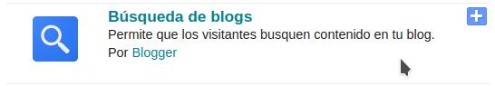 Captura del gadget búsqueda de blogs cuando aparece listado en Blogger.com