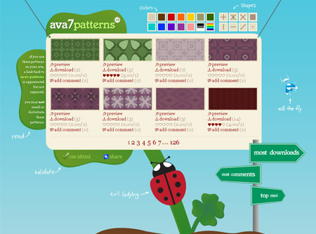 Ava 7 Patterns, más de 1000 patrones
