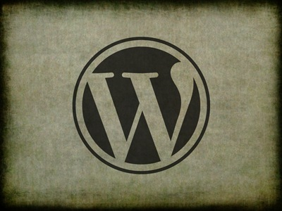 WordPress en papel envejecido