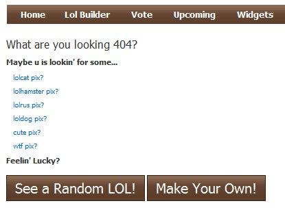 Una muestra de error 404