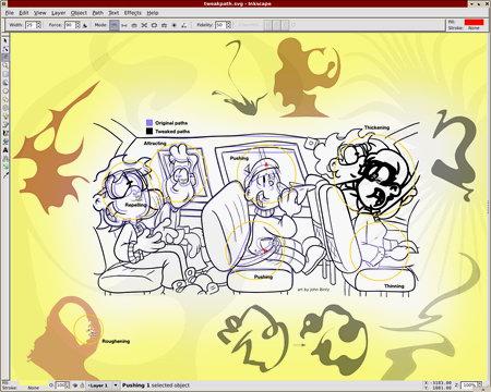 Captura de Inkscape extraída de la web del programa