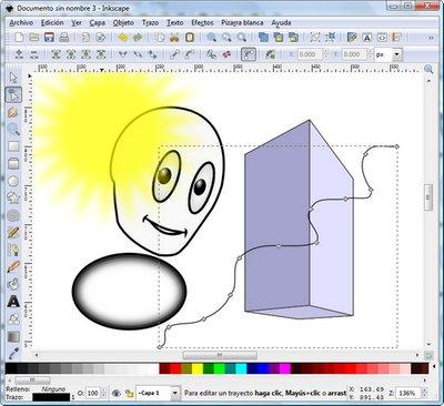 Captura de Inkscape con algunas muestras