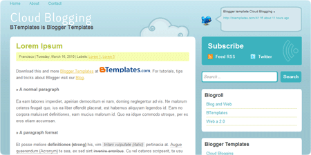 Cloud Blogging demo